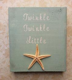 Twinkle Twinkle Little Starfish Nautical Nursery or Beach Nursery Decor by BurlapAndLaceCA, $30.00 #baby #shower #christmas #gift