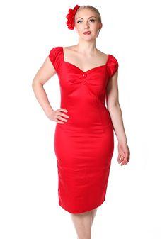 Dolores Pencil Red - Punainen kynämekko #vintagestyle #pencildress #littlereddress   https://www.misswindyshop.com
