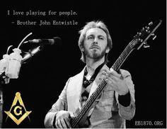 John Entwistle's Live Isolated Bass Track For 'Won't Get Fooled Again' Is Simply… Famous Freemasons, Happy Birthday John, 7 Arts, Masonic Art, John Entwistle, Gallows, Cool Rocks, Rockn Roll, Freemasonry