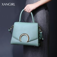 a49dbdac4 Genuine Leather Ladies Handbags Women Middle Size Bags Messenger Crossbody  Bags