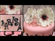 Hey everyone, this is my recent work: A Paris themed Bridal Shower cake. This was actually done a few months back and it belonged to a couple that I actually. Buttercream Filling, Cake Youtube, Paris Theme, Rose Cake, Theme Parties, Shower Cakes, Wedding Cakes, Bridal Shower, Hand Painted