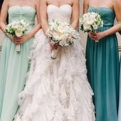 The bridesmaid dresses in this wedding make the wedding that much more incredible to see. Judy Pak Photography