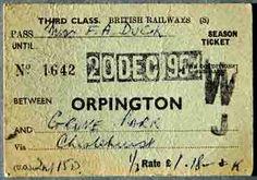 1950 train ticket - Google Search