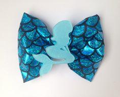 Mermaid Scales Hair Bow Disney Inspired The Little by EllenJaimie