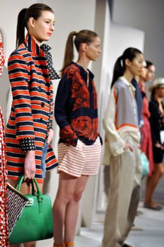 J.Crew Fashion Week...love that blue and orange trench!