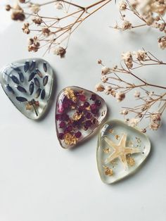 Guitar pick CHARMS made with real nature, music lover, guitar player, guitar accessories, music acce