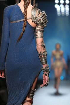 I love me some steam punk...Jean Paul Gaultiere Spring/Summer 2010 #fashion #bluedress #steampunk