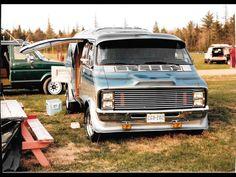 Old school custom 70's Dodge van