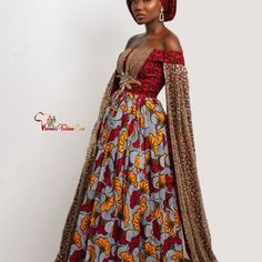 Red African Wedding and Party Dress Multicolor African Dress | Etsy Ankara Clothing, African Clothing For Men, Ankara Gowns, Ankara Dress, African Prom Dresses, African Dress, Dashiki Prom Dress, Infinity Dress, Cape Dress