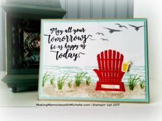 High Tide, Colorful Seasons, Adirondack Chair, Stampin' Up!    MakingMemorieswithMichelle.com