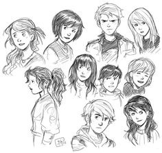 SketchGroup 001 by Garrett Byers, via Behance..... An assortment of various character sketches as well as time-lapse videos of my drawing process.