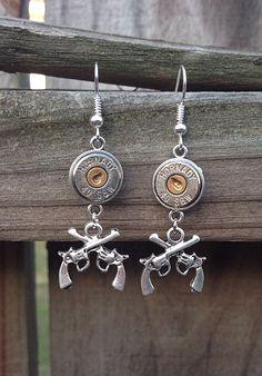 Caliber Girl Bullet Jewelry. Bullet earrings  on Etsy, $17.99