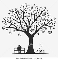 Black and white flower tree vector Free vector for free download ...