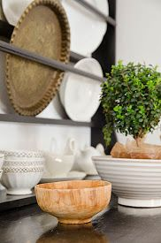 A green houseplant can add colour to your kitchen