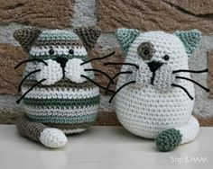 Trendy Ideas For Crochet Cat Amigurumi Pattern English Chat Crochet, Crochet Mignon, Crochet Diy, Crochet Patterns Amigurumi, Crochet Crafts, Crochet Dolls, Yarn Crafts, Crochet Projects, Knitting Patterns