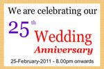 celebrate your 25th anniversary by banner printing in cheap rate.