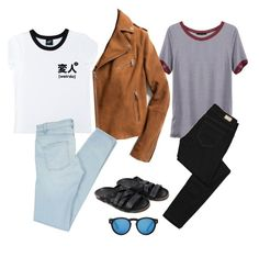 """""""Which one"""" by kaelagsmith ❤ liked on Polyvore featuring moda, Illustrated People, Exclusive for Intermix, Paige Denim, Marc by Marc Jacobs, The Last conspiracy y Illesteva"""