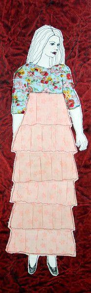 Stoff-Papiercollage+/+Nadelkunst+von+mARTina+haussmann+auf+DaWanda.com