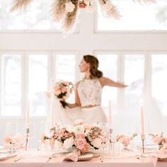 Blush wedding table decor. Photo: Camilla Bloom / Florals & Styling: MEvent Camilla, Wedding Table, Wedding Styles, Florals, Blush, Table Decorations, Weddings, Floral, Flowers