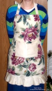 You've probably seen the idea of making aprons out of pillowcases before, but I thought I'd share a few of mine with you.  My sister-in-law ...