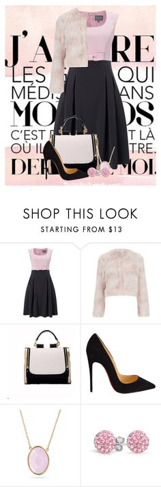 """""""So Pink"""" by ggmusicista on Polyvore featuring moda, Phase Eight, RED Valentino, Christian Louboutin, Bling Jewelry, women's clothing, women's fashion, women, female e woman"""