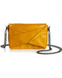 aa4b09954a Halston - Grace Small Bow Convertible Leather Crossbody - Lyst