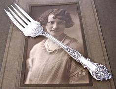 Antique Serving Fork, Charter Oak 1906 Pattern