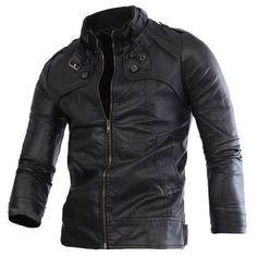 New Men's Black Genuine Lambskin Leather SlimFit Biker Motorcycle Jacket #Handmade #Motorcycle