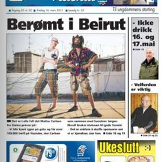 THE COVER BOYS We made it to the cover of the Lofoten-Times. One of Norway's most prestigious newspapers.