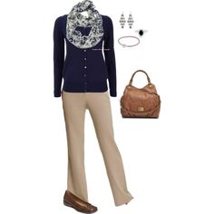 Navy and khaki work by christij327 on Polyvore featuring Wallis, Old Navy,  A2 by