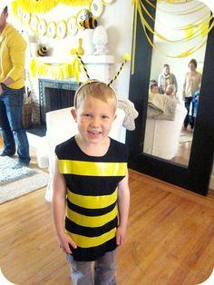 Yellow duct tape, black shirt