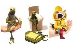 Adorable new stitching kits: Frog Prince and Rilla Raccoon