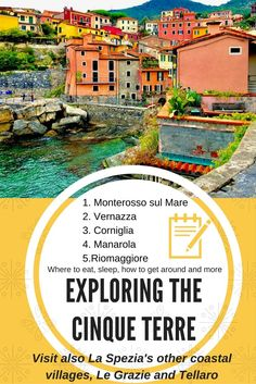 Find out things to do in Cinque Terre, where to stay, Good restaurants in La Spezia's coastal villages.  Cinque Terre is gorgeous and all you need is 2-3 days to visit these beautiful villages along the coast. Read more in details what else to visit in La Spezia, in addition to the Cinque Terre (Five villages). #Italy #Cinque #Terre #Beautifulplaces #ThingstodoinCinqueTerre