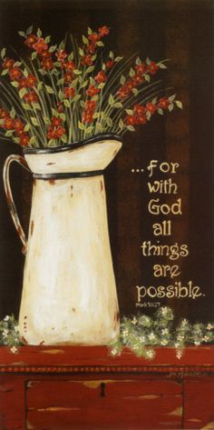 All Things Are Possible Poster Print by Jo Moulton Mark 10 27, Posters Vintage, Bible Scriptures, Bible Notes, Scripture Cards, Scripture Quotes, Faith In God, Word Of God, Gods Love