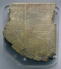 2750-2500 BCE.  The Flood Tablet, The Epic of Gilgamesh, Tablet 11: Story of the Flood.  Clay, Neo-Assyrian. This tablet tells just one of the many worldwide Flood stories.