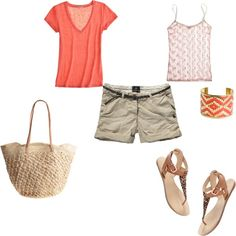 summer casual, created by tommysgirl5590 on Polyvore