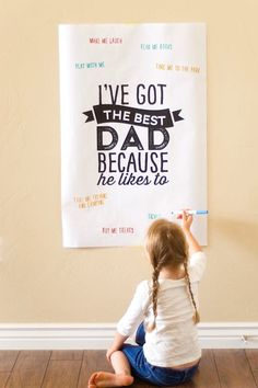 Confetti Sunshine free printable Father's Day poster