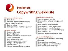 Synlighets Sjekkliste for Copywriting