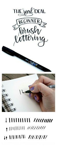 Basic brush lettering beginner series by One Artsy Mama
