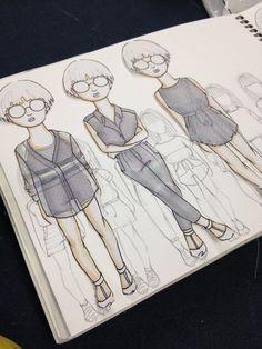 Fashion Sketchbook - fashion design drawings; fashion illustrations; fashion portfolio // Evelyn Tao