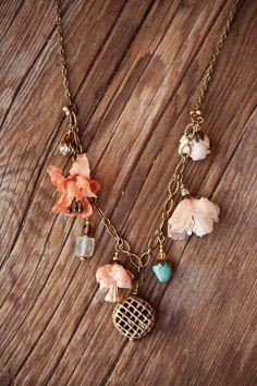 silk flowers necklace