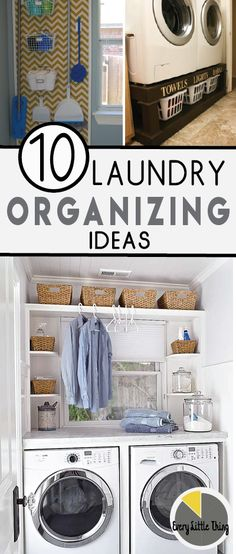 Get more useful space in your laundry room with these great organizing ideas!