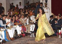 25 times Priyanka Chopra stunned us in 2016:      In a lemon yellow sari by Madhurya before receiving Padma Shri award during the Civil Investiture Ceremony in New Delhi, India, on April 12.