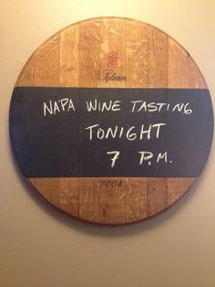 Wine Barrel Chalkboard by alpinewinedesign on Etsy, $149.00