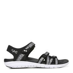 797d7ebd8e20 Ryka Savannah Medium Wide Sandal Black Business Casual Outfits For Women