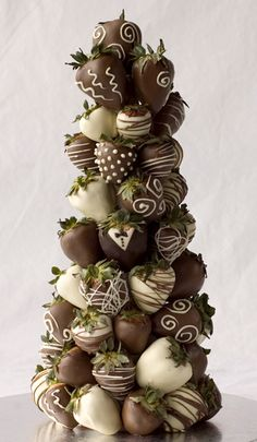 Chocolate strawberry tower