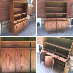 #MidCenturyModern #Walnut Hutch By Garrison Furniture Co. Info @ Link  Below. |