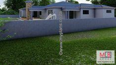 Bedroom House Plans, House Floor Plans, Single Storey House Plans, African House, Double Garage, Open Plan Living, Building Plans, Living Area, Architecture Design