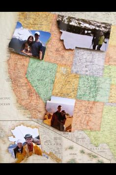 Pictures of everywhere you go together on a map!