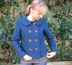 """Well, limping to the finish line, a bit battered and bloodied (from needle and pin pricks no doubt) I have finally finished my jacket. Even my hubby started saying """"aren't you done yet… Colette Patterns, Dressmaking, Sewing Projects, Sewing Patterns, Classic, Jackets, Bee, British, Fabrics"""